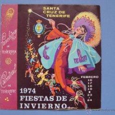 Folletos de turismo: FOLLETO TURÍSTICO: CARNAVAL (TENERIFE, 1974) ORIGINAL ¡COLECCIONISTA!. Lote 52398878