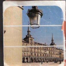 Folletos de turismo: EXCURSIONES 84 MADRID. PLANO DE MADRID . TRAPSATUR. 1984. MUY DETERIORADO. PLEGADO 20X9 CMTRS.. Lote 52446053