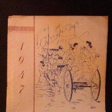Folhetos de turismo: PROGRAMA DE LA FERIA Y FIESTAS DE SAN AGUSTIN LINARES 1947. MUERTE DE MANOLETE, PUBLICIDAD, IMÁGENES. Lote 52674842