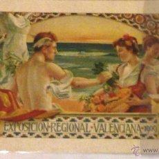 Folletos de turismo: TARJETA EXPOSICION REGIONAL VALENCIANA 1909 LITOGRAFIA DURA INAUGURACION ATENEO MERCANTIL . Lote 52910232
