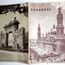 Brochures de tourisme: FOLLETO DE TURISMO ANTIGUO AÑO 1960. ZARAGOZA. GUIA TURISTICA VINTAGE. PLANO MAPAS.. Lote 52972623