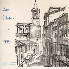Folhetos de turismo: PROGRAMA DE LAS FIESTAS DE SAN MATEO. OVIEDO. 1959. EJEMPLAR NUMERADO. ASTURIAS. Lote 52998906