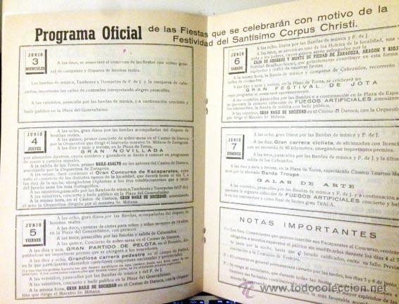 Folletos de turismo: Daroca. Fiestas del Corpus Christi 1953. Programa Oficial. - Foto 3 - 58676659