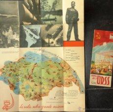 Foglietti di turismo: 2 FOLLETO TURISMO PUBLICIDAD ANTIGUA URSS EXPOSICION UNIVERSAL BRUSELAS 1958 . PRECIOSOS. Lote 53173459