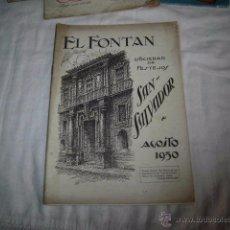 Folletos de turismo: PORFOLIO EL FONTAN FIESTAS EN HONOR DE SAN SALVADOR AÑO 1950 OVIEDO PUBLICIDAD CERTINA EN CONTRAPORT. Lote 53186060
