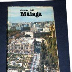 Folletos de turismo: GUÍA DE MALAGA Y PLANO CALLEJERO 1986 PROLOGO DE D. PEDRO APARICIO. Lote 53228955