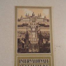 Folletos de turismo: INTERNATIONALE AUSSTELLUNG BARCELONA 1929 - EXPOSICIÓN INTERNACIONAL DE BARCELONA 1929. Lote 57736596