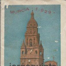 Folletos de turismo: MURCIA 1929.FERIA Y FIESTAS DE SEPTIEMBRE EDICIÓN OFICIAL DEL AYUNTAMIENTO DE MURCIA.. Lote 53313106