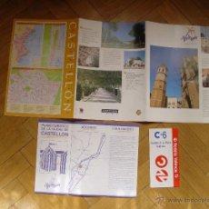 Folletos de turismo: PLANO Y GUÍA TURÍSTICO CASTELLÓN. (GENERALITAT VALENCIANA, 1993). DESPLEGABLE. ¡COLECCIONISTA!. Lote 53452315