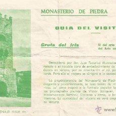 Folletos de turismo: ** PA252 - MONASTERIO DE PIEDRA - GUIA DEL VISITANTE. Lote 53565432