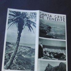 Folletos de turismo: FOLLETO TURISMO / SANTA CRUZ DE TENERIFE / AÑOS 60 / ISLAS CANARIAS. Lote 53742142