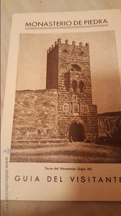 MONASTERIO DE PIEDRA GUIA DEL VISITANTE (Coleccionismo - Folletos de Turismo)