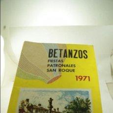 Folletos de turismo: BETANZOS FIESTAS PATRONALES SAN ROQUE 1971. Lote 53809726