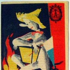 Folletos de turismo: ALICANTE PROGRAMA DE FIESTAS DE HOGUERAS 1957 TRIPTICO FOGUERES DE SANT JOAN. Lote 53840216