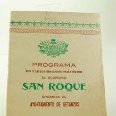 Folletos de turismo: PROGRAMA DE FIESTAS DE BETANZOS 1928. Lote 53890614