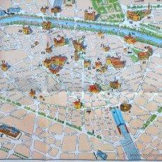 Folhetos de turismo: ANTIGUO MAPA CIUDAD DE VALENCIA 1958, FOMENTO DEL TURISMO, MAP OF VALENCIA TEXTO EN INGLES. Lote 54304421