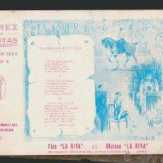 Folletos de turismo: XEREZ EN FIESTAS.MAYO DE 1930.AÑO X.EDITORES: JOSÉ L.FERNÁNDEZ CALA.RAFAEL POZO ROLDÁN.. Lote 54561699