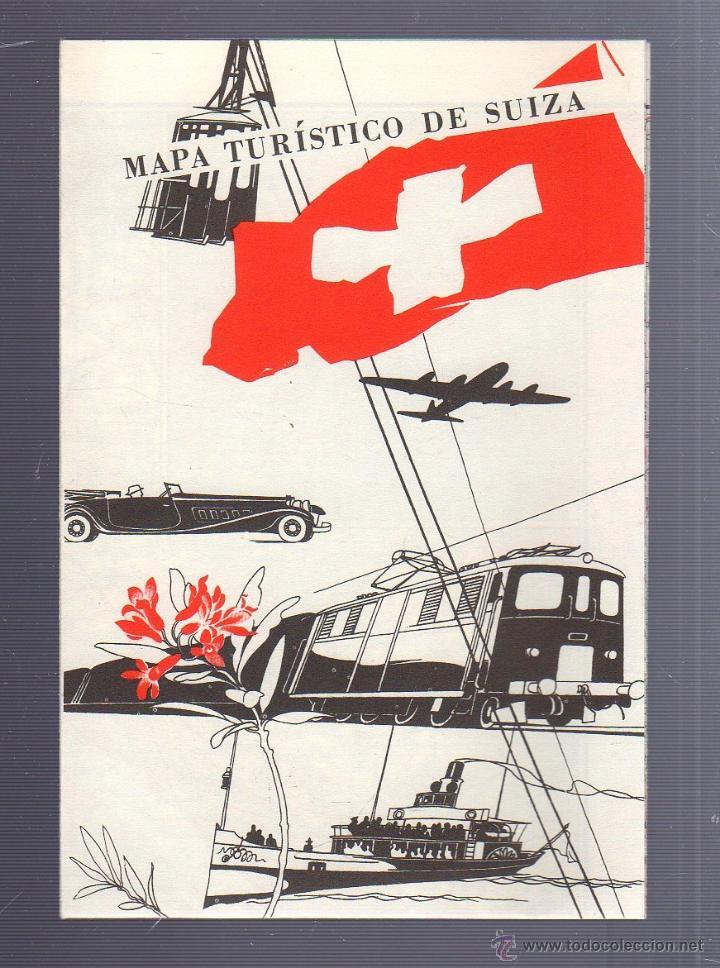 Folleto turistico mapa turistico de suiza ofi comprar for Oficina de turismo de suiza en madrid