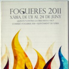 Folletos de turismo: FOGUERES 2011 XABIA ALICANTE. Lote 54716270