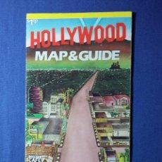 Folletos de turismo: FOLLETO HOLLYWOOD MAP-GUIDE. Lote 54794997