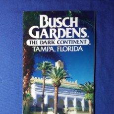 Folletos de turismo: FOLLETO BUSCH GARDENS THE DARK CONTINENT -TAMPA- FLORIDA. Lote 54888990