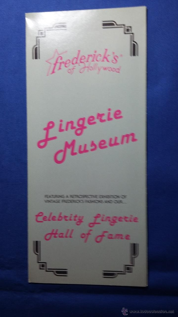 FOLLETO LINGERIE MUSEUM- HOLLYWOOD - CALIFORNIA (Coleccionismo - Folletos de Turismo)