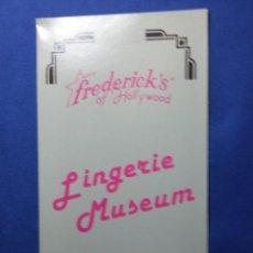 Folletos de turismo: FOLLETO LINGERIE MUSEUM- HOLLYWOOD - CALIFORNIA. Lote 54889090