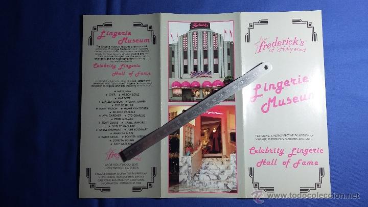 Folletos de turismo: Folleto Lingerie Museum- Hollywood - California - Foto 3 - 54889090