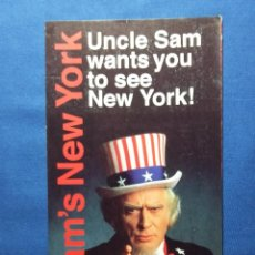 Folletos de turismo: FOLLETO UNCLE SAM-NEW YORK. Lote 54889132