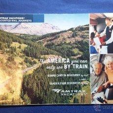 Folletos de turismo: FOLLETO AMERICA BY TRAIN- AMTRAK VACATIONS. Lote 54937828