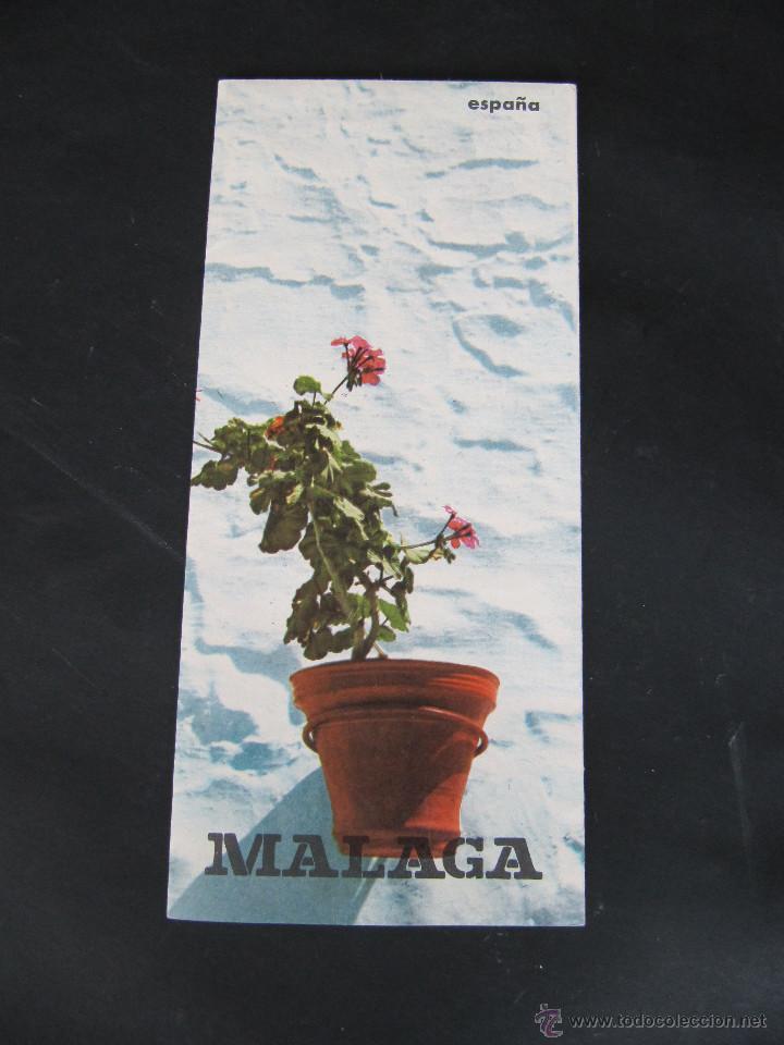 FOLLETO DESPLEGABLE TURISMO MALAGA. AÑOS 60-70? (Coleccionismo - Folletos de Turismo)