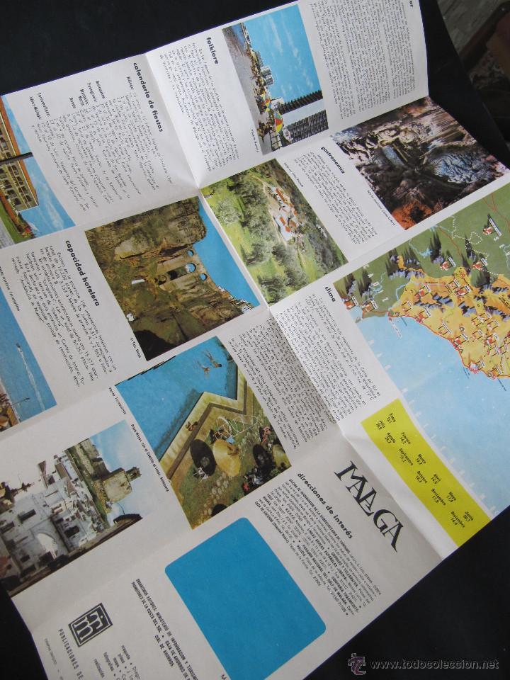 Folletos de turismo: FOLLETO DESPLEGABLE TURISMO MALAGA. AÑOS 60-70? - Foto 2 - 55031076