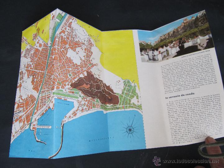 Folletos de turismo: FOLLETO DESPLEGABLE TURISMO MALAGA. AÑOS 60-70? - Foto 3 - 55031076