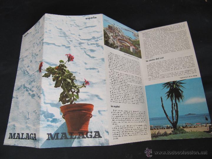 Folletos de turismo: FOLLETO DESPLEGABLE TURISMO MALAGA. AÑOS 60-70? - Foto 4 - 55031076
