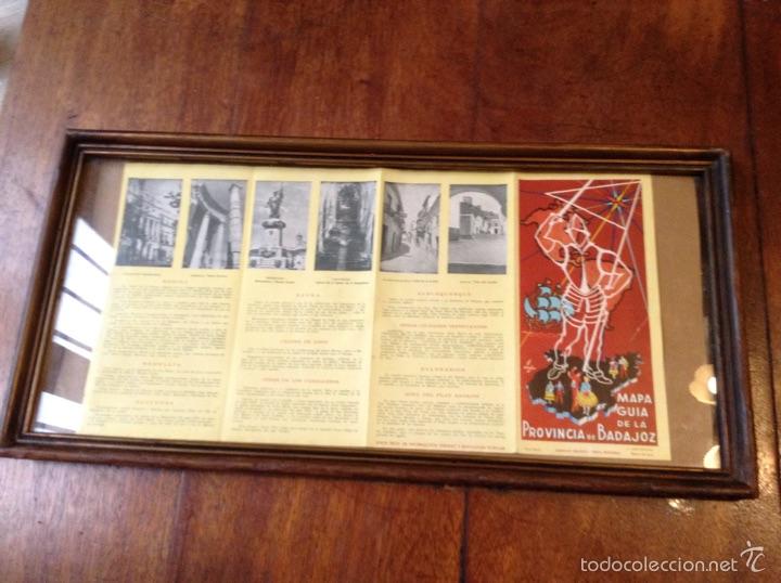 MAPA GUIA DE LA PROVINCIA DE BADAJOZ 1959 (Coleccionismo - Folletos de Turismo)