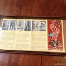 Folletos de turismo: MAPA GUIA DE LA PROVINCIA DE BADAJOZ 1959. Lote 55056779