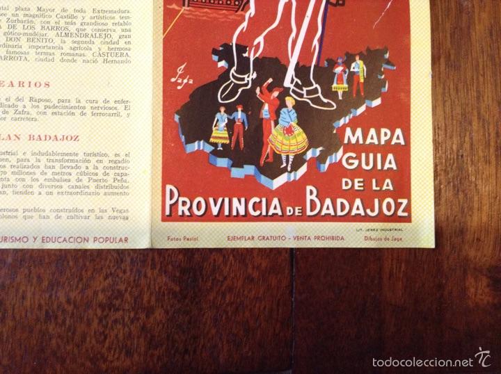 Folletos de turismo: Mapa guia de la Provincia de Badajoz 1959 - Foto 3 - 55056779
