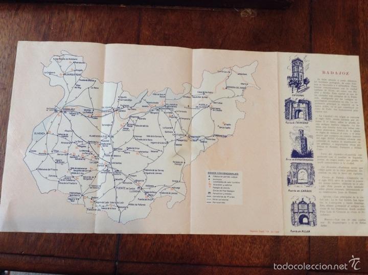 Folletos de turismo: Mapa guia de la Provincia de Badajoz 1959 - Foto 6 - 55056779