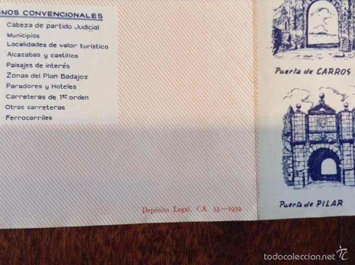 Folletos de turismo: Mapa guia de la Provincia de Badajoz 1959 - Foto 7 - 55056779