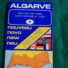 Folletos de turismo: GUIA DE CARRETERAS, MAPA Y PLANO DE EL ALGARVE (PORTUGAL) - DISTRI EDITORA. Lote 55114744