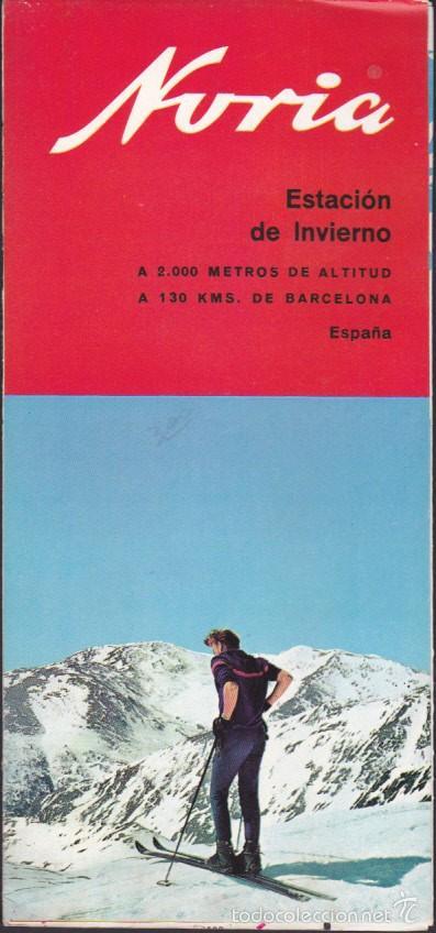 FOLLETO TURISMO NURIA ESTACION DE INVIERNO SKI (Coleccionismo - Folletos de Turismo)