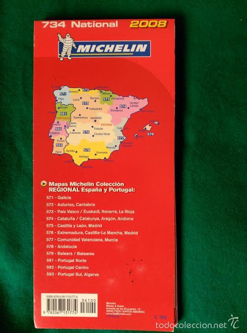 mapa michelin portugal mapa de carreteras de españa y portugal   miche   Comprar Folletos  mapa michelin portugal
