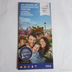 Folletos de turismo: FOLLETO TURISTICO PORTAVENTURA WORLD SALOU (TARRAGONA) 2016. Lote 55397365