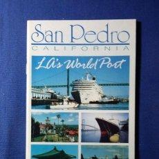 Folletos de turismo: FOLLETO SAN PEDRO CALIFORNIA. Lote 55582318