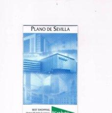 Folletos de turismo: FOLLETO PLANO DE SEVILLA TURISMO DE SEVILLA CENTROS COMERCIALES DE SEVILLA EL CORTE INGLÉS. Lote 55711199