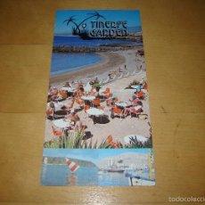 Folletos de turismo: ANTIGUO FOLLETO PUBLICITARIO HOTEL TENERIFE GARDEN - TENERIFE. Lote 55997304