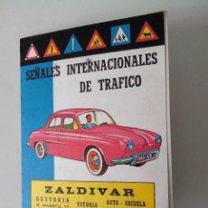 Folletos de turismo: FOLLETO SEÑALES INTERNACIONALES DE TRAFICO ZALDIVAR 1963. Lote 56510897