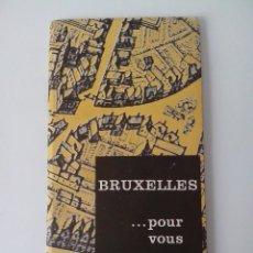 Folletos de turismo: CATALOGO PLANO FERIA INTERNACIONAL DE BRUSELAS 1963 EN FRANCES. Lote 56511341