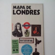 Folletos de turismo: MAPA ANTIGUO DE LONDRES AÑO 1974. Lote 56511953