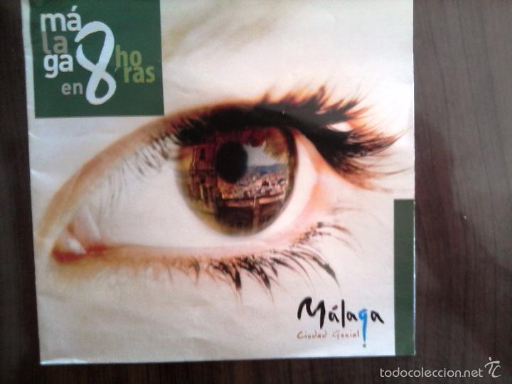 MALAGA EN 8 HORAS. ITINERARIO PARA CONOCER MALAGA EN UN DIA (Coleccionismo - Folletos de Turismo)